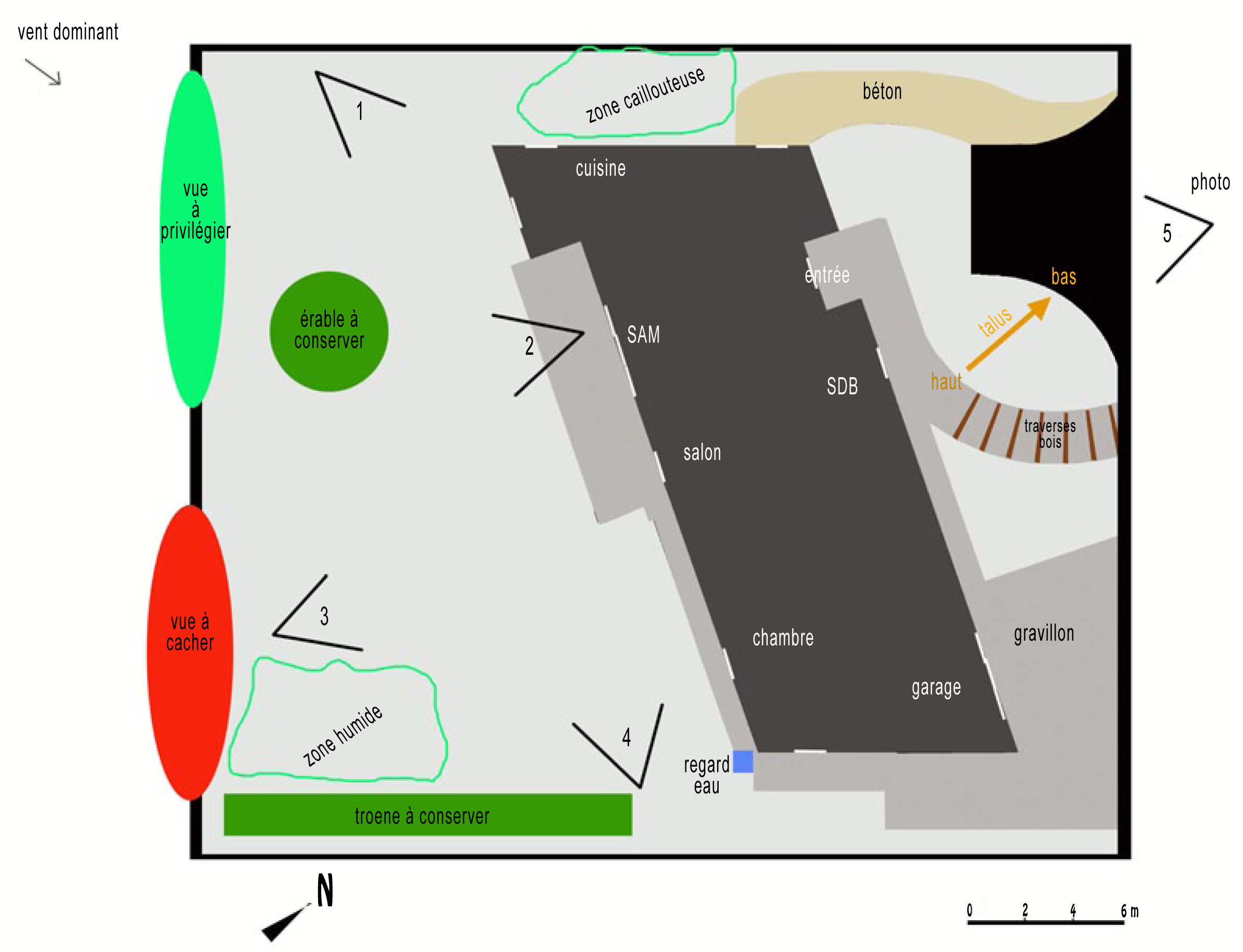 plan jardin : première étape