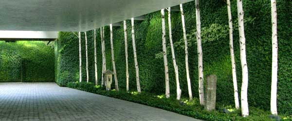 Mur v g tal d 39 ext rieur le nouveau jardin vertical for Mur vegetal exterieur synthetique